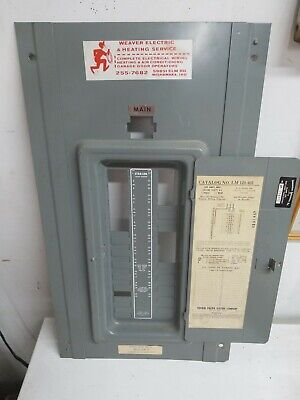Federal Pacific Fpe Stab Lok Circuit Breaker Panel Box Cover Model Lm 120-40i