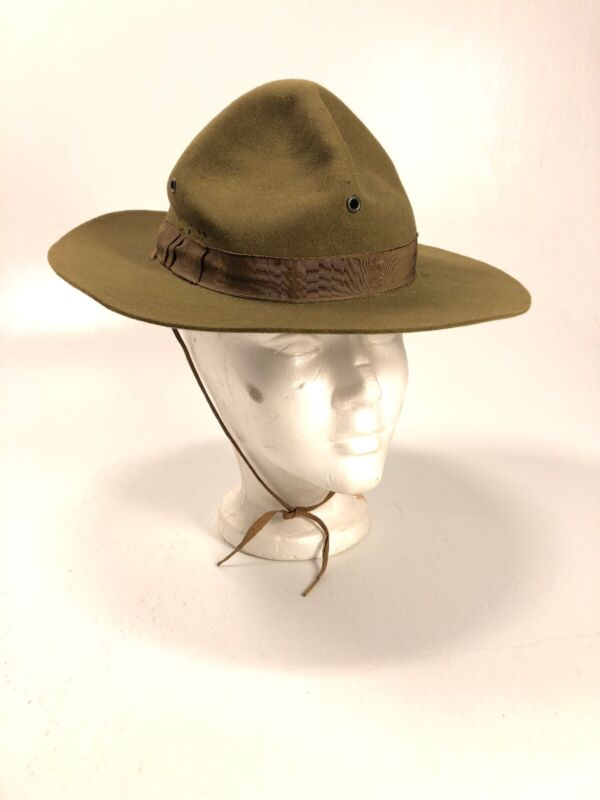 Vintage Boy Scouts of America Scout Master Hat BSA Campaign Woodbadge Felt