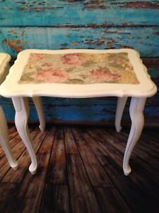 Beautiful set of 2 Antique Nesting Tables