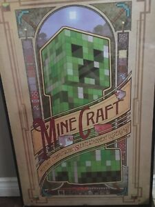 Mine craft poster and frame