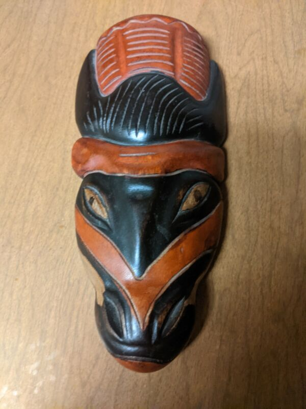 Hand Carved Wooden African Mask
