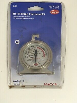 New Cooper 26hp Hot Holding Cabinet Cooking Thermometer Stainless Steel Sealed