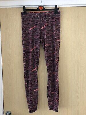 Ladies Puma Orange Spotty Fitness Leggings Size 14