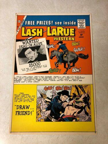 LASH LARUE #76 Art Original Cover Proof 1960 Western DEAD OR ALIVE