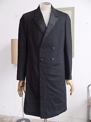 Herren Gehrock True VINTAGE RAR 20er coat Mantel Schurwolle 30er Kragenspiegel