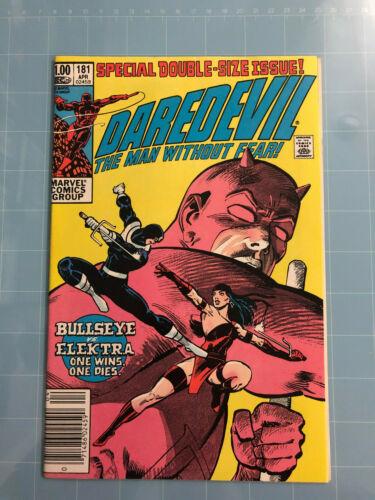 DAREDEVIL #181 Death of Elektra NewsStand Ed Marvel Comics 1982 Frank Miller