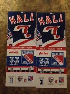 Rangers tickets for Tues Feb 28