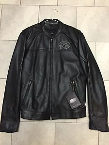 Never worn leather motorcycle jacket!