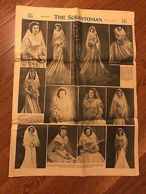 THE SCRANTONIAN NEWSPAPER- Sundy Nov 28 1948 Social Section Bride Photo Included