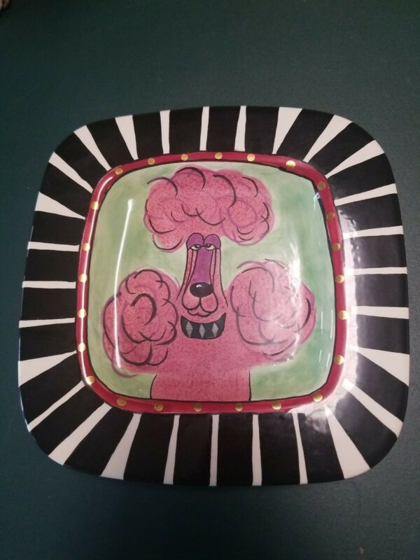 Lynda Corneille SWAK Artwork  Dog  Character Collectible Plate Pink Poodle New