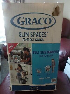 Graco Slim Spaces Compact Swing Baby Lionel Fashion  Neutral colors