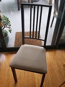4 x dining chairs with beige covers Lane Cove North Lane Cove Area Preview