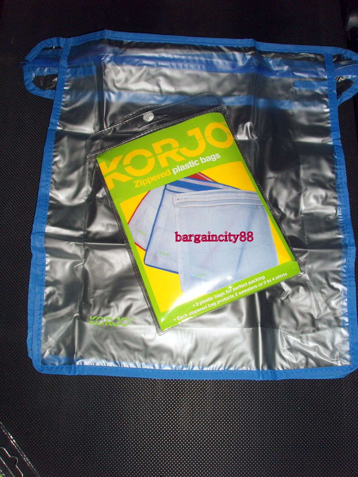 Korjo Zpb23 Zipped Plastic Packing Travel Luggage Clothes