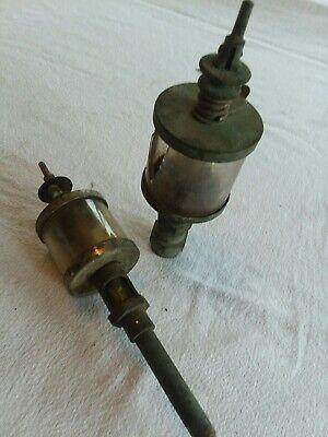 2 Vintage Lubricator Oilers Steam Engine Hit Miss Unmarked
