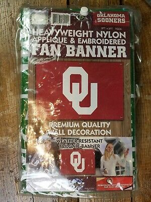 (NEW Oklahoma Sooners Football NCAA Party Kit Applique Banner Vinyl Table Cloth)