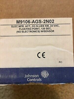 Johnson Controls Electric Actuator53 In.-lb.32 To 125 M9106-ags-2n02