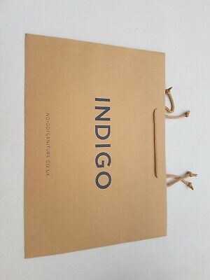 BROWN ROPE HANDLE 440 X 120X320mm PRINTED INDIGO FURNITURE, BOX OF 50 STRONG