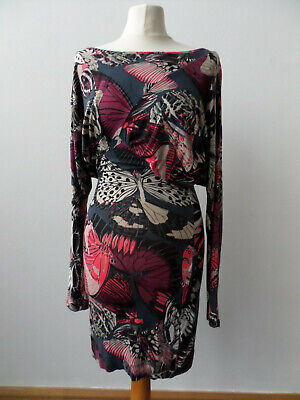 French Connection Dress Multicolour / Butterfly Long Sleeve Size 8