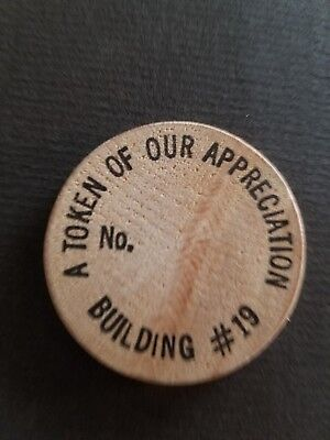 A Token Of Appreciation (Vintage Wooden Nickel A Token Of Our Appreciation Building)