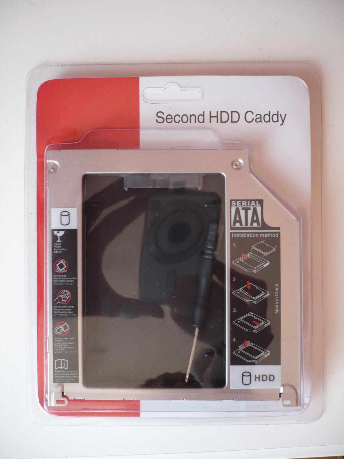 2.5 POLLICI SECOND HDD CADDY PER APPLE MACBOOK - DA SATA A SATA