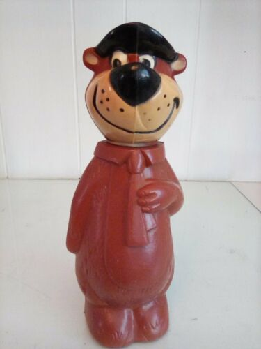 Yogi Bear Plastic Bank Knickerbocker Hollywood Vintage 1960s Removable Head