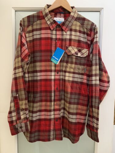 Columbia  Omni Wick Men's Large Red Plaid Flannel shirt BN