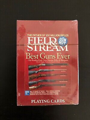 RARE FIELD & STREAM BEST GUNS EVER PLAYING CARDS! NEW FACTORY