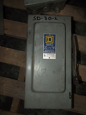 Sq D Square D 60 Amp Disconnect Safety Switch H362  W Fuses 600 Vac Lot 3