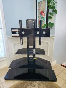 Beautiful Black Tempered Glass TV Mount for Sale