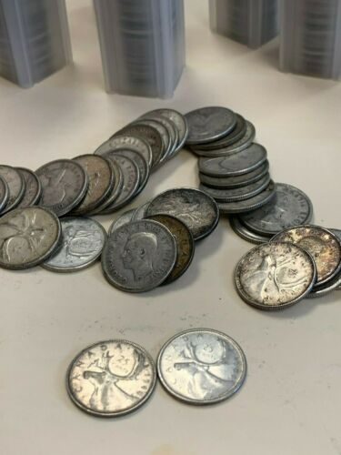 40-$10.00 Pre-1967 Canadian 80% Silver quarters, from old Estate Lowest $on Ebay