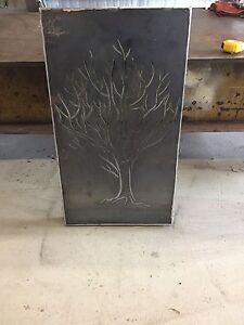 Metal decorative screen wall art