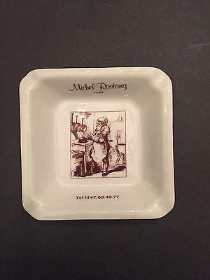 Pub Ashtray Paris France Michel Rostang Porcelain made in Avignon