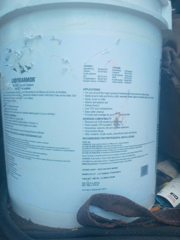 5 gallons DOW LIQUIDARMOR.  Cm Flashing And Sealant, Waterproofer
