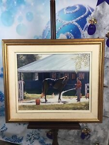 Framed picture of horse
