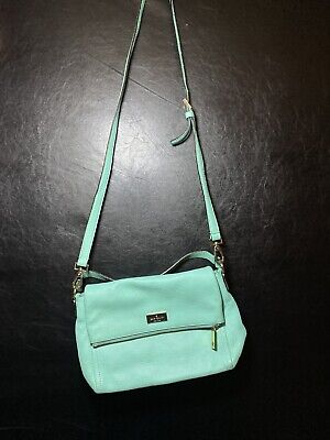 Kate Spade Crossbody Purse Bag Leather Teal