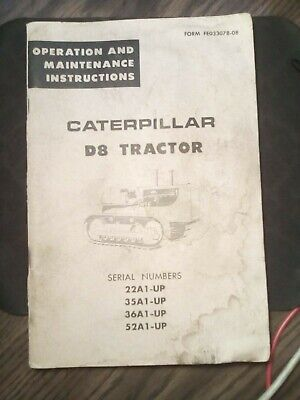 Caterpillar D8 Tractor Operation And Maintenance Instructions Bulldozer Vintage