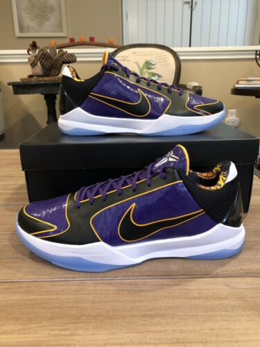Nike Kobe 5 Protro Lakers Mens Size 13 New Mamba Bruce Lee