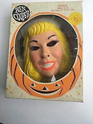 Vintage 1960s Ben Cooper Halloween Costume Nurse Complete/w box