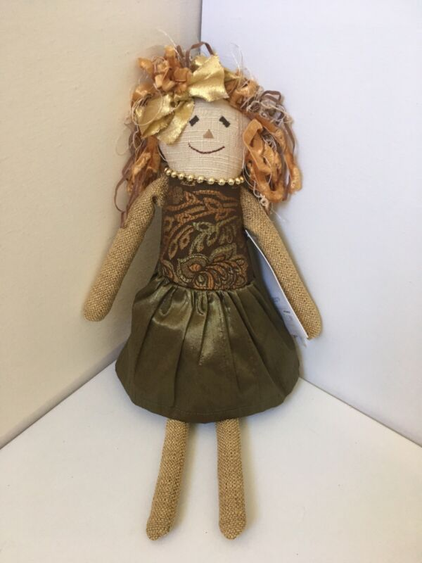Woof & Poof Scarecrow Girl  - 2012 - Plush Doll - Fall Autumn Decor