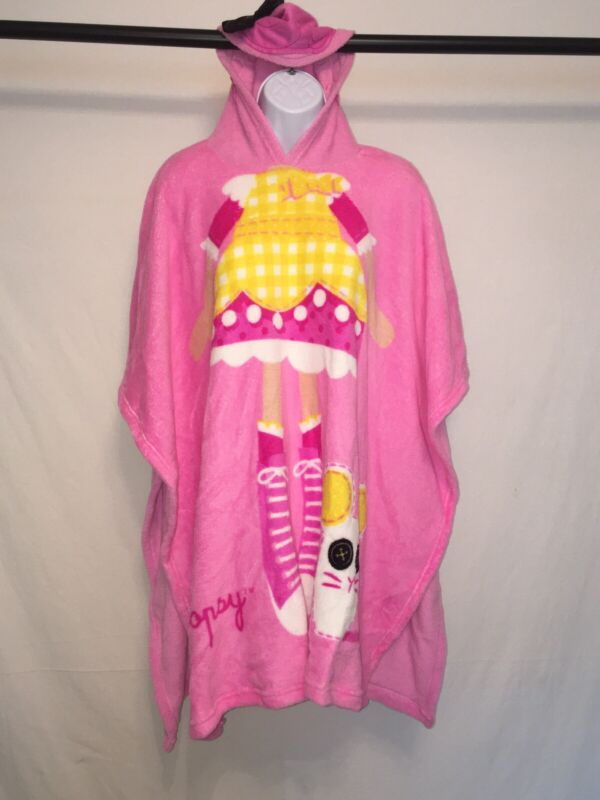 Lalaloopsy girls one size fleece hooded pull over blanket Pink