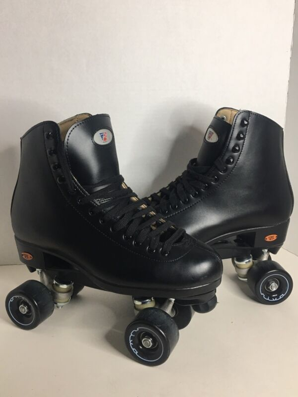 Riedell 111BR Black Roller Skates - Size 8 Men - 111 - light scratches - LikeNew