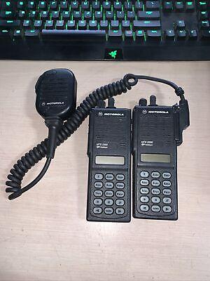 Lot Of 2 Motorola Mts2000 800mhz Model Iii Portable Two-way Radio