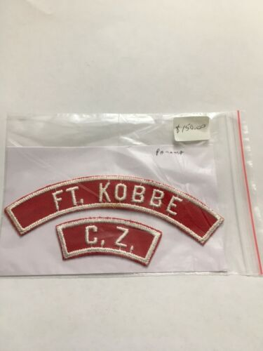 FORT KOBBE CANAL ZONE PANAMA  RED & WHITE 1/2 STRIP