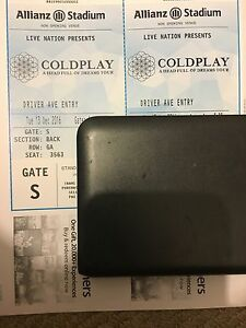 1x GA Silver Standing COLDPLAY  13th DECEMBER Haymarket Inner Sydney Preview