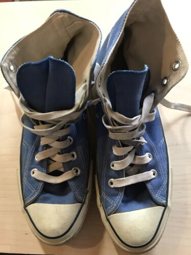 CONVERSE Vintage Blue Coast Chuck Taylor All Star Shoes Size 9 Made In USA 1980