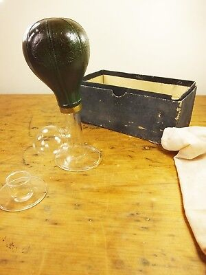 Vintage Antique Ingrams breast pump reliever glass rubber boxed