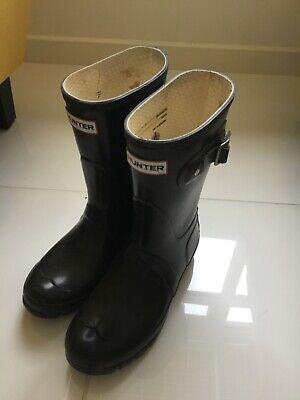 Hunter Black wellies Wellington shoes rubber Size 5