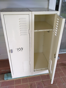 Steel locker pair 2 school small. Rare. Denistone East Ryde Area Preview