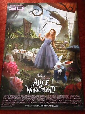 Kinoplakat Poster A0, 84x119cm, Johnny Depp, Tim Burton (Alice Im Wunderland Poster)