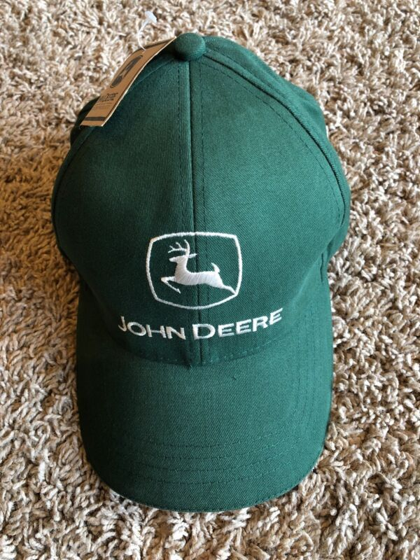 John Deere Olive Green Cap / Hat Adjustable NEW with tags